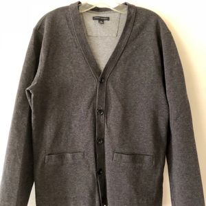 Banana Republic dark grey men's cardigan sweater
